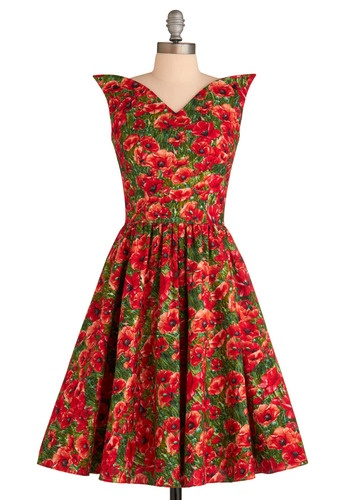 wizard of awesome dress: Modcloth, Awesome Dresses, Retro Vintage Dresses, Poppies, Bernie Dexter, Wizards Of Oz, Vintage Inspiration, Floral Dresses, Vintage Style