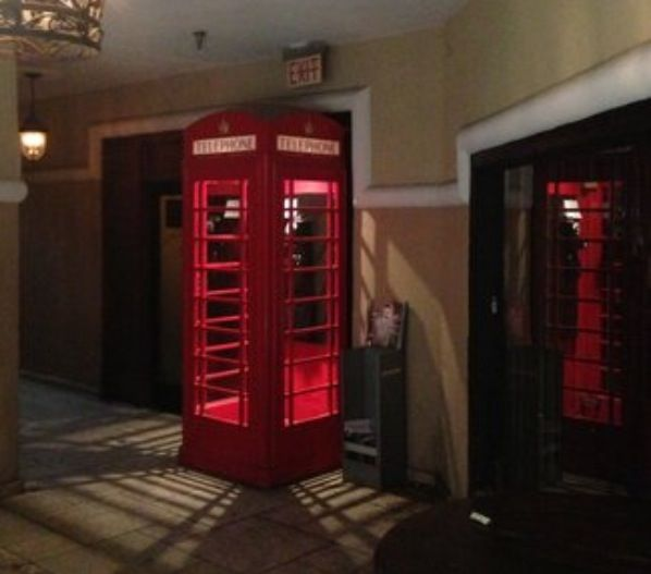 The infamous red phone booth marks the spot at 56 east ...