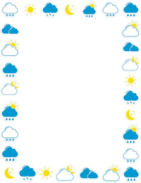 A weather page border. Free downloads at http://pageborders.org/download/weather-border/