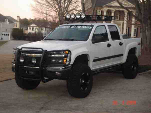 Lifted Chevy Colorado. I have the truck just need the wheels, front push guard, and top mount