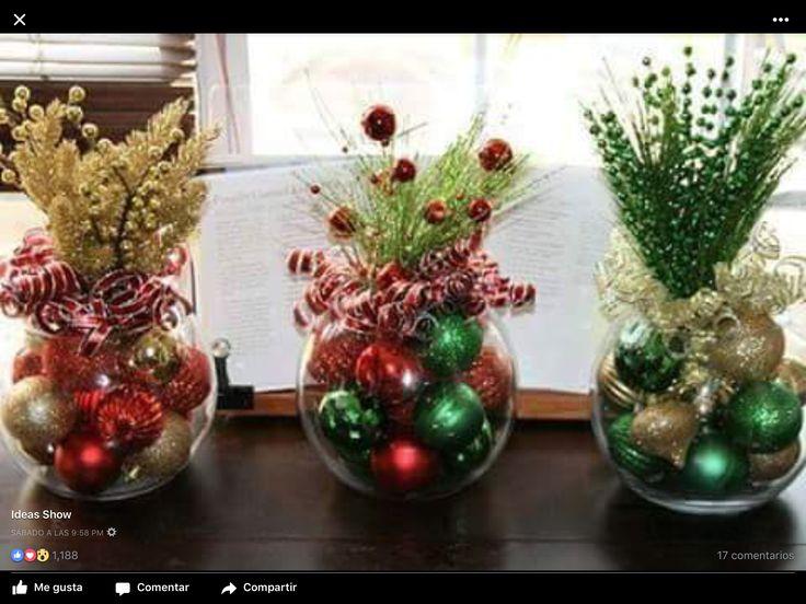 Pin de rosario navarro en arreglos navide os pinterest - Ideas para arreglos navidenos ...