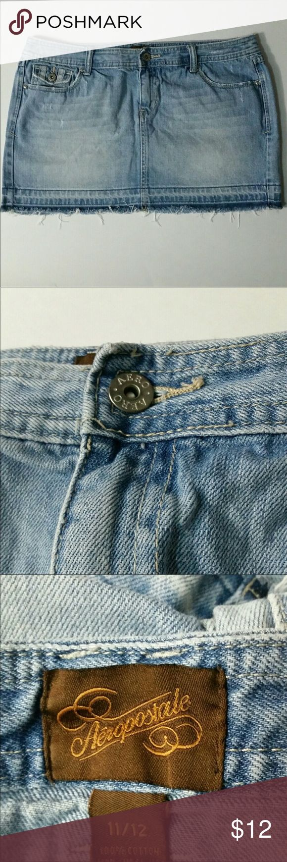 Denim skirt 18 inches across,  13 1/2 inches from top to bottom, 100% cotton skirt Aeropostale Skirts Mini
