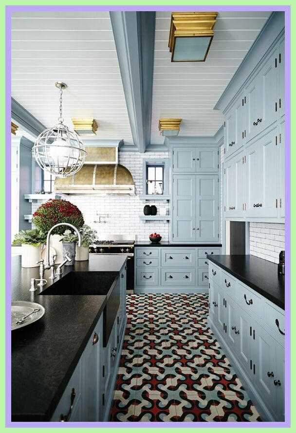63 Reference Of Floor Tile Dark Light Green Painted Kitchen Cabinets Colors Kitchen Cabinet Design Kitchen Trends