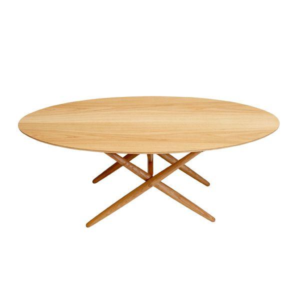 """Relaunch by Artek of  1954 Ilmari Tapiovaara """"Ovalette"""" coffee table, oak"""