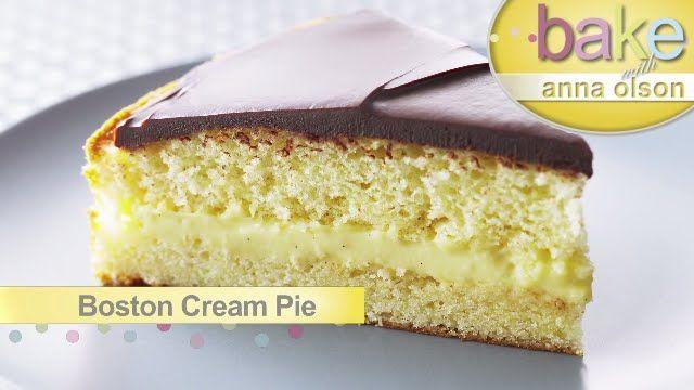 Boston Cream Pie - Bake with Anna Olson - YouTube