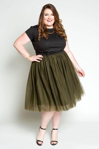 Plus Size Clothing for Women - Society+ Grace Tutu - Olive (Sizes 1X - 6X) - Society+ - Society Plus - Buy Online Now!