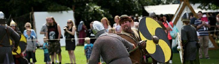 Battle of Clontarf. Battle re-enactment.
