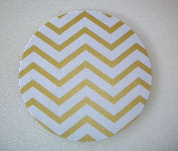 Mouse Pad mousepad / Mat - round - Shiney gold chevron - Computer Accessories Geekery Custom Desk Coworker Gifts Office Gifts
