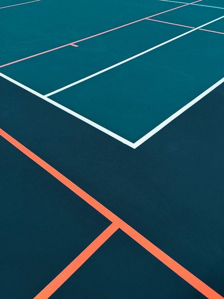 Tennis Court Colour Minimalist Photography Minimal Photography Color