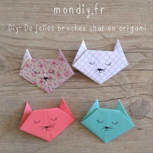 Peut-être pour les serviettes de table! Origami chat