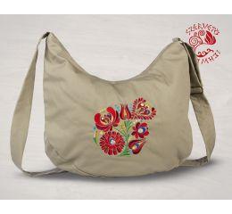 Szervető-matyó félhod táska - bézs