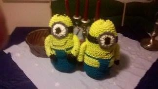 Loom knitted minions by Gaby H.