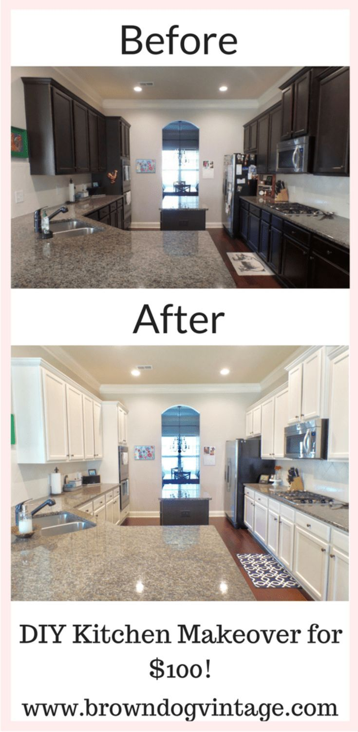 Do It Yourself Home Decorating Ideas: $100 DIY Kitchen Cabinet Makeover