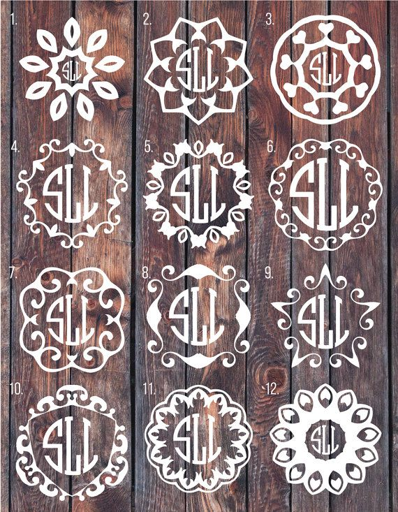 Monogram decal Monogram sticker circle monogram greek by SLrustic