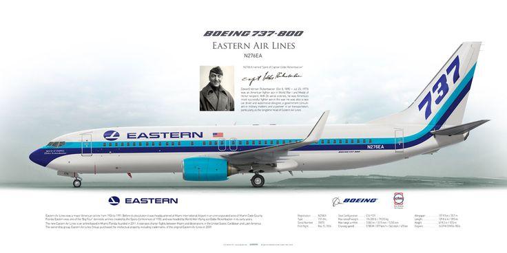 Boeing 737-800 Eastern Air Lines   www.aviaposter.com   #airliners #aviation #jetliner #airplane #pilot #aviationlovers #avgeek #jet #sideplane #airport #boeing #b737