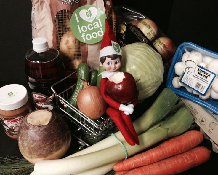 Elf on the Shelf paid us a visit, and boy does he love Ontario food. http://www.ontario.ca/foodland/why-buy-local