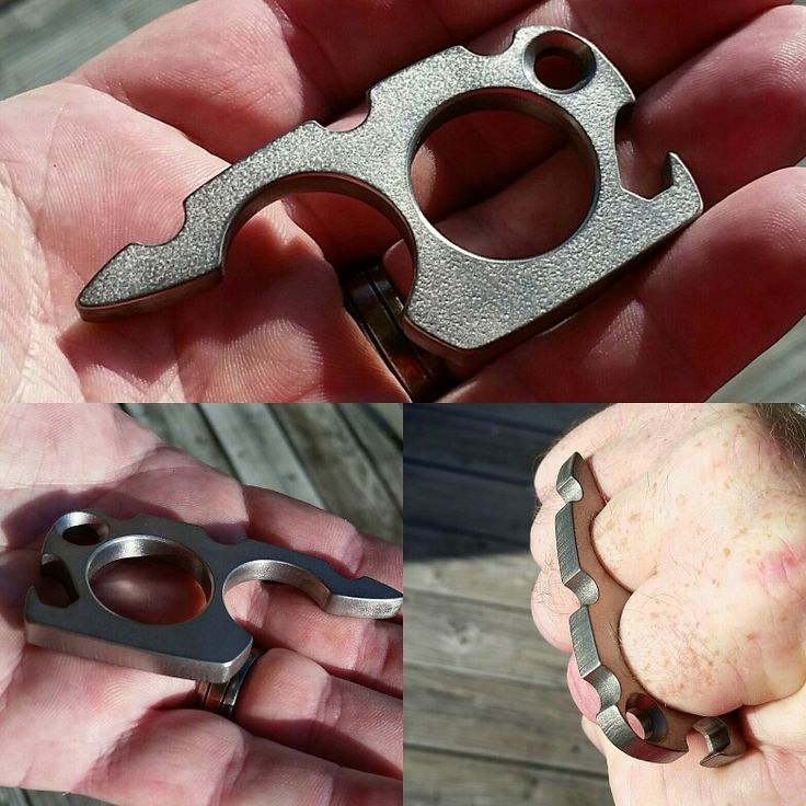 "Our plain tumbled finish Brewtal knuck/bottle opener/edc keychain tool.  1/4"" thick 6 Al-4V and made by hand. Overmountain.us.com"