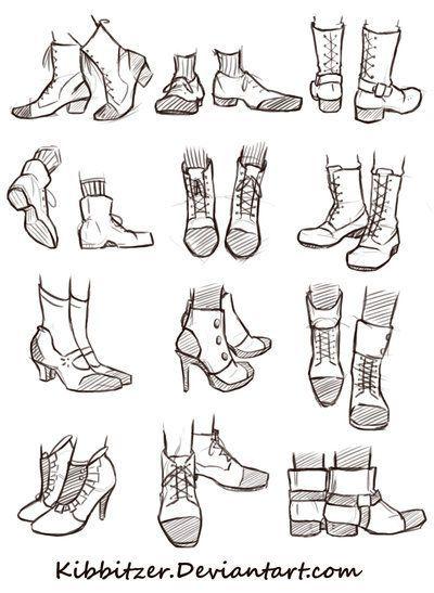 Shoes Reference Sheet by Kibbitzer.deviantart.com on @DeviantArt: