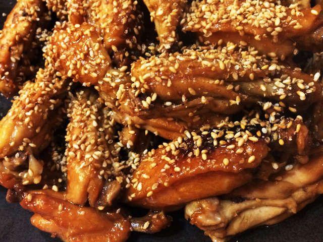 甘辛 手羽 先 鶏の手羽先の甘辛揚げ(焼き?) レシピ・作り方