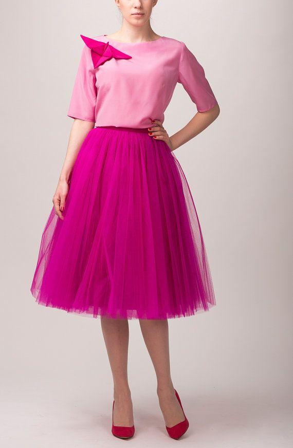 Tulle skirt, long petticoat, high quality tutu skirts, tulle tutu, tea length tutu