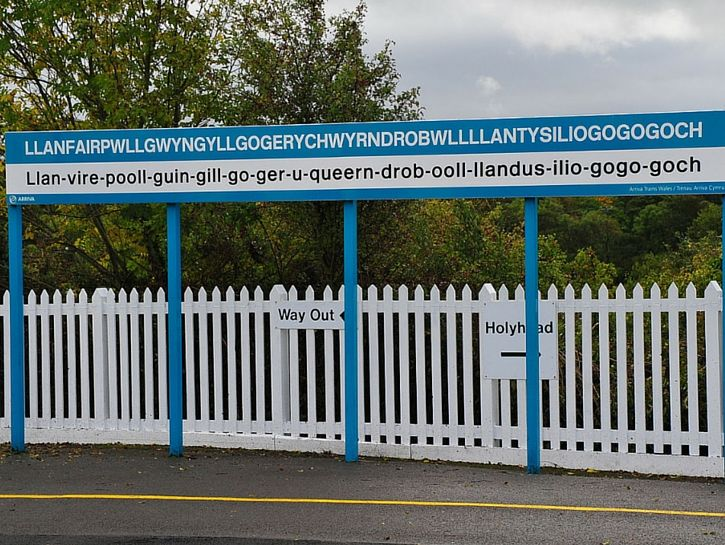 Nope. Not even going to try to pronounce the name of this small town in Wales (although the town's sign does have a handy pronunciation guide).