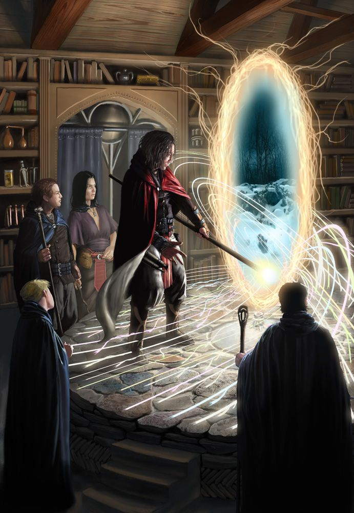 What I imagine a gateway looks like. A Wizard's Work by JoeSlucher on deviantART