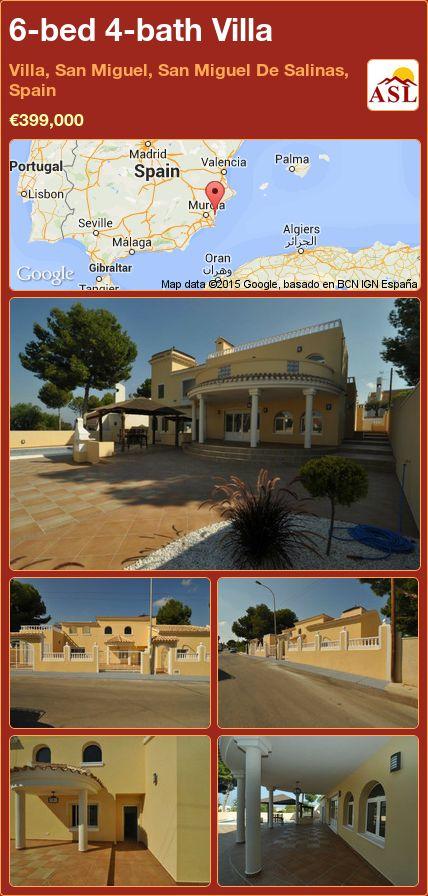 6-bed 4-bath Villa in Villa, San Miguel, San Miguel De Salinas, Spain ►€399,000 #PropertyForSaleInSpain
