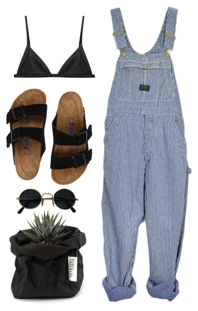 """""""look"""" by lilyaraluen ❤ liked on Polyvore featuring Matteau, Birkenstock and Uashmama"""