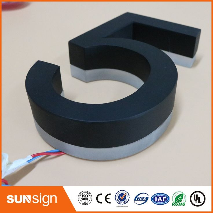wholesale coffee store decorative 3d backlit letters house number