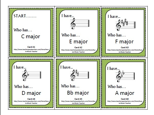 I Have.... Who Has... Key Signatures -  HAVE….. Who Has…………….. Key Signature Cards!  This resource contains SIX sets of the game I Have…. You Have.   Each set is based on key signatures:  Set A: Major key signatures in the treble clef Set B: Major key signatures in the bass clef Set C: Minor key signatures in the treble clef Set D: Minor key signatures in the bass clef Set E: Major and Minor key signatures in the treble Set F: Major and Minor key signatures in the bass