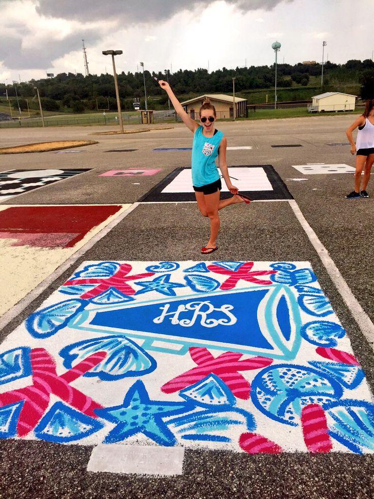 Lilly Pulitzer inspired Senior parking spot