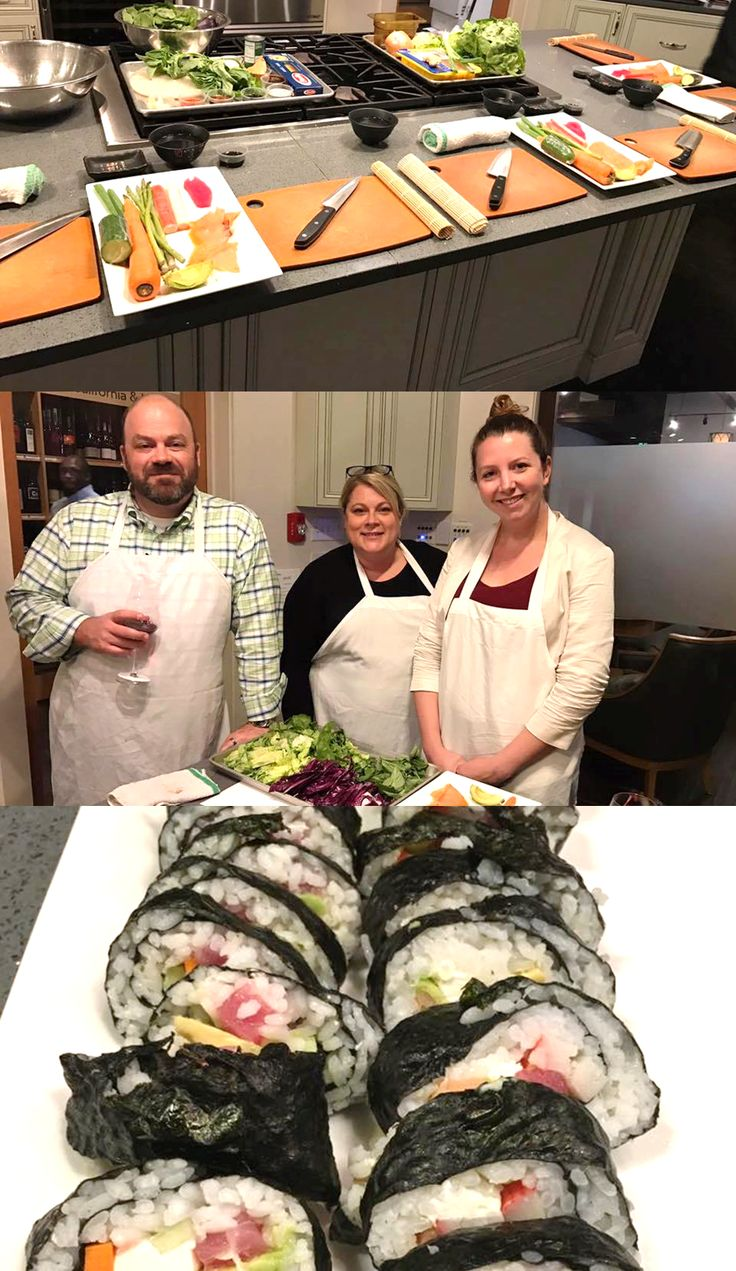IMA team members created their own sushi- YUM!  What a great way to create office camaraderie and have a delicious dinner!