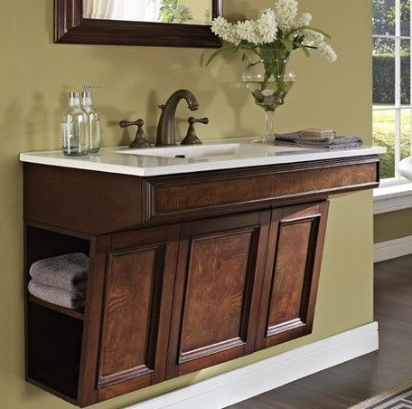 Photo Image Fairmont Designs Newhaven Inch Wall Mount Ada Vanity In Nutmeg