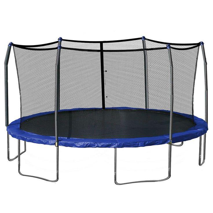Skywalker Trampolines 17-ft. Oval Trampoline with Enclosure, Blue