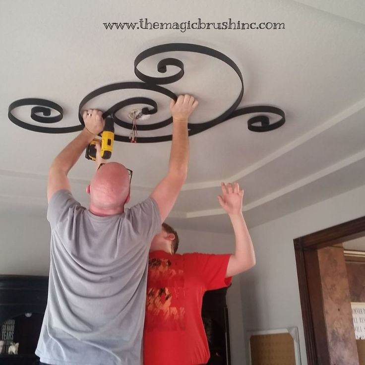 Hometalk :: Non-traditional Ceiling Medallion