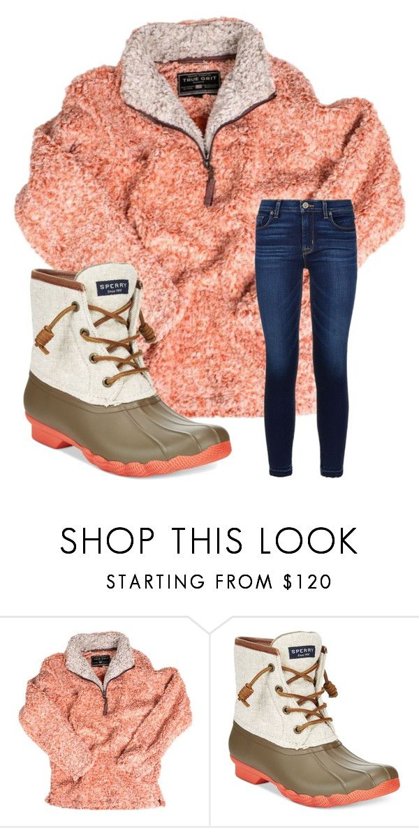 """cozy day ;)"" by emi-elephant ❤ liked on Polyvore featuring True Grit, Sperry and Hudson"