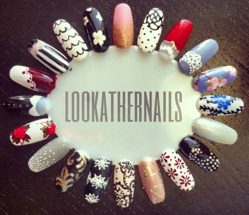 """Fancy"" nail art wheel  by LookAtHerNails"