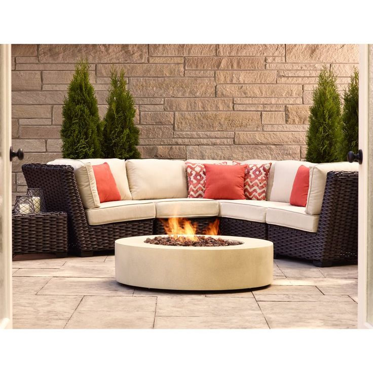 Allen + Roth Blaney Outdoor Wicker 5 Piece Conversation Set | Loweu0027s Canada.  Backyard ...