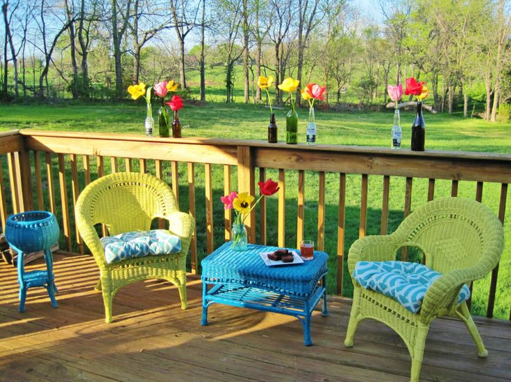 Painted Wicker Furniture Porches Pinterest
