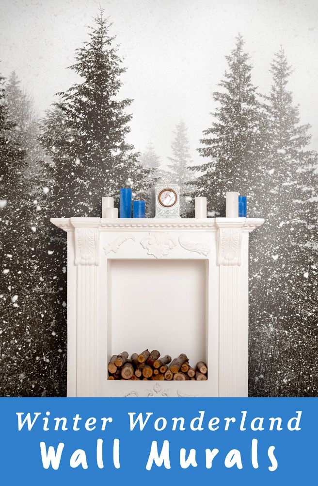 Dress up your walls for the season with full wall murals of winter scenes! SmartStick peel and stick wall covering is easy to install and there's no messy glue to clean up! #myMYWmural