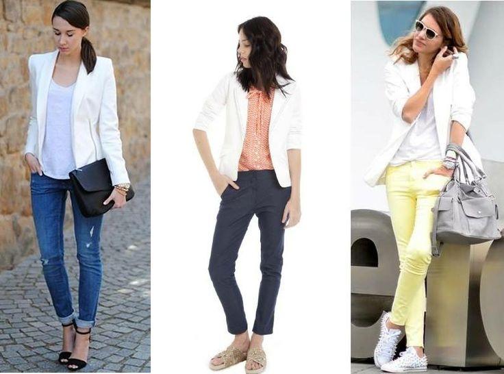 Te proponemos un clásico renovado: el blazer blanco, una prenda super versátil para toda ocasión, combinada con leggins, jeans, pantalones estampados... El blazer Malva forma parte de nuestra colección de verano y está disponible en nuestro showroom del talle S al L.                                                                                                                                                                                 Más