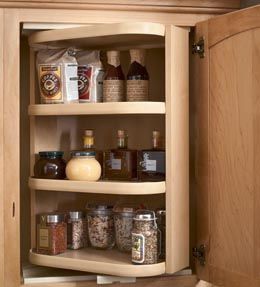 Reverse a shelf wall cabinet shelving unit swings around for Kraftmaid storage solutions