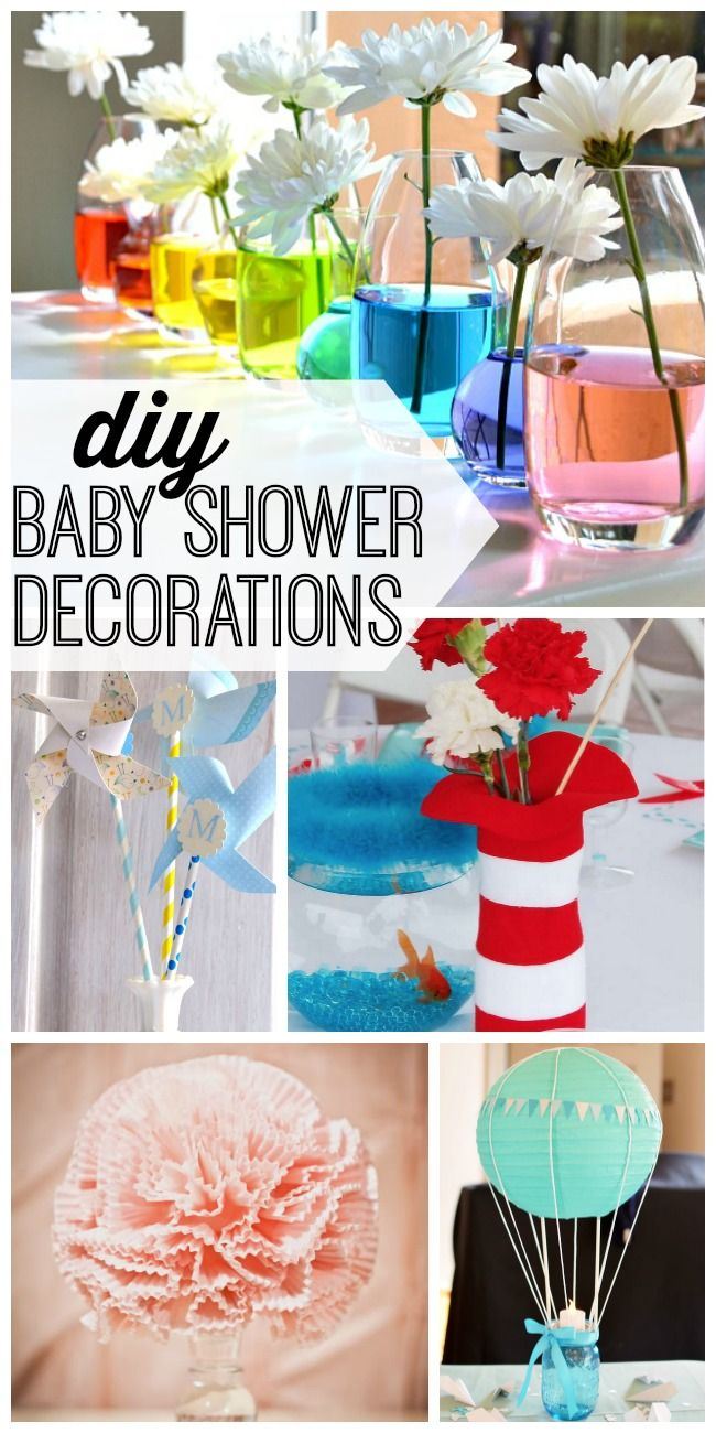 15 DIY baby shower decorations to help celebrate baby's arrival. #8 is my favorite!