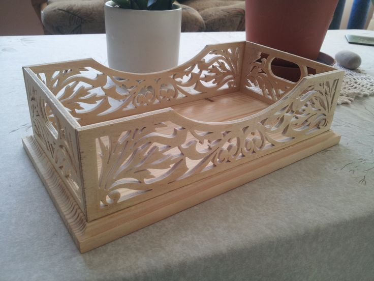 Fretwork Tray - A bit of scroll sawing never hurts...