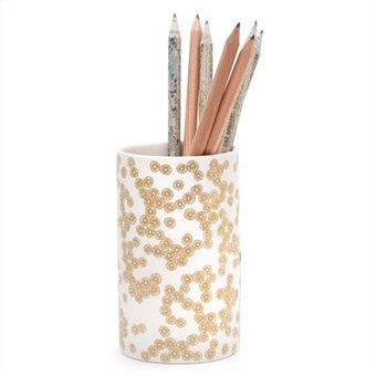 gold and white pencil cup | current obsessions ...