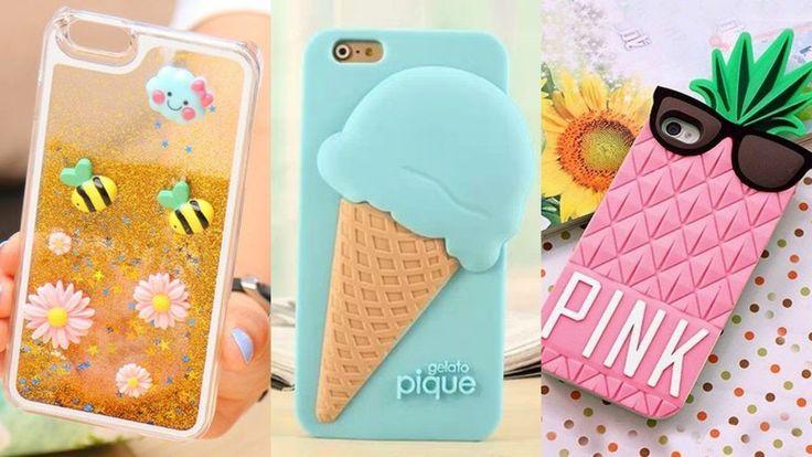 DIY: Fundas Caseras para celulares / DIY Phone Case Designs - YouTube