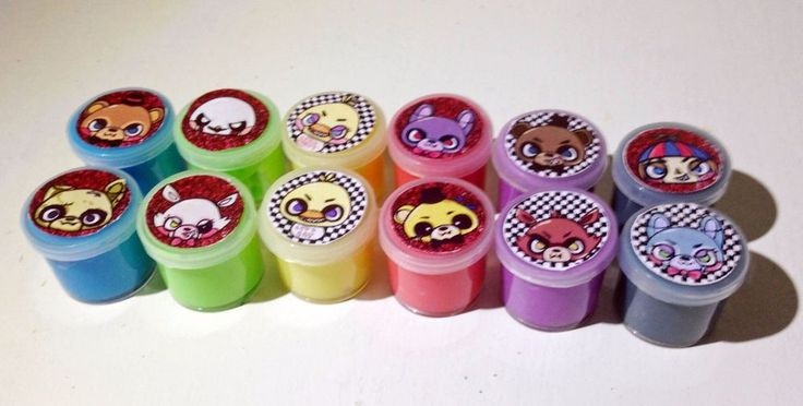 12X FNAF 5 Nights At Freddy's Mini Slime Putty Flarp Noise Maker Party Favor  | eBay