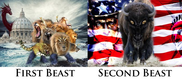 Revelation 13: First Beast (Rome) and Second Beast (USA ...