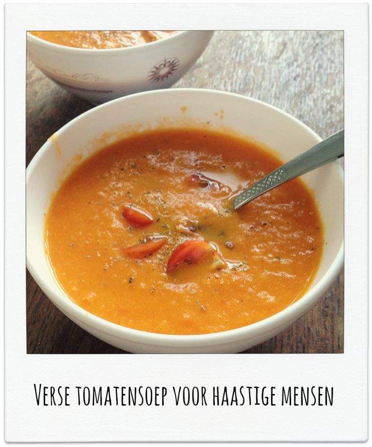 Tomatensoep voor haastige mensen
