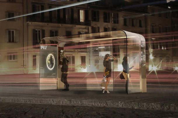 In Italy, futuristic bus stops to blend practical, chic | Planetary Gear - CNET News: Buses, Glass, Tech, Design, Bus Stop, Bus Station